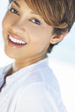 Beautiful Mixed Race Woman Laughing Royalty Free Stock Photography