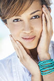 Beautiful Mixed Race Woman Smiling royalty free stock photography