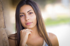 Beautiful Mixed Race Young Woman Stock Photos