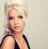 Beautiful model with blonde hair. Stock Image