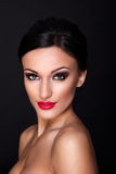 Beautiful model with bright makeup Royalty Free Stock Photography