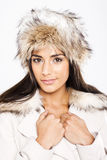 Beautiful Model In Coordinated Winter Fashion Stock Photos