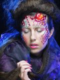 Beautiful model with creative make up Royalty Free Stock Photography