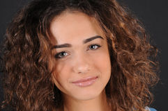 Beautiful model with curly hair Stock Images