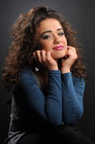Beautiful model with curly hair Royalty Free Stock Photos