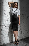 Beautiful model in fashion clothes Stock Image