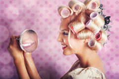 Beautiful Model With Fresh Makeup And Hairstyle Royalty Free Stock Images