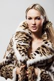 Beautiful model in fur Royalty Free Stock Photo