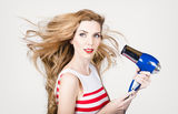 Beautiful model hair styling long red hairstyle Royalty Free Stock Image