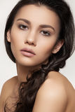 Beautiful model with hairstyle and fashion make-up Royalty Free Stock Photo