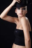 Beautiful model in hat Royalty Free Stock Images