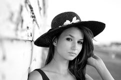 Beautiful Model with hat Stock Image