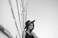 Beautiful Model with hat Royalty Free Stock Photos