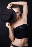 Beautiful model in hat Stock Image