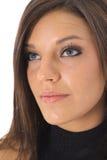 Beautiful model headshot on white Stock Images