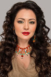 Beautiful model with jewelry Royalty Free Stock Photos