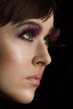 Beautiful model with long eyelashes Royalty Free Stock Image