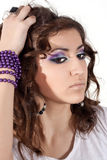 Beautiful model with make up Royalty Free Stock Photo