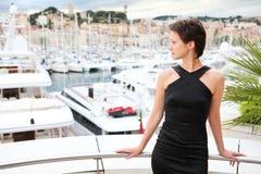 Beautiful model with marina background Stock Photo