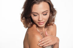 Beautiful model portrait in studio Stock Photography
