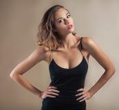 Beautiful model portrait in studio Royalty Free Stock Photos