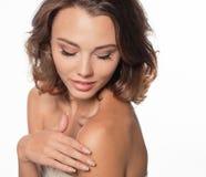 Beautiful model portrait in studio Stock Photos