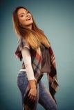 Beautiful model posing at studio. Stock Images