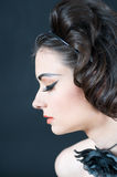 Beautiful Model in profile Stock Images