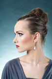 Beautiful Model Profile Royalty Free Stock Photo