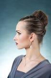 Beautiful Model Profile Stock Images
