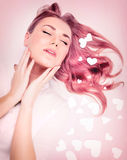 Beautiful model with romantic look Royalty Free Stock Photo