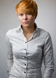 Beautiful model in shirt Royalty Free Stock Photography