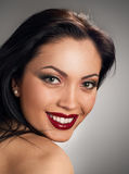 Beautiful model with smile Stock Images