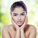 Beautiful model with soft skin Royalty Free Stock Photos