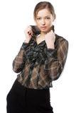 Beautiful model studio photo Royalty Free Stock Image
