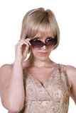 Beautiful Model wearing glasses posing at camera Stock Photos