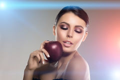 Beautiful model woman in beauty salon makeup Young modern girl i Royalty Free Stock Image