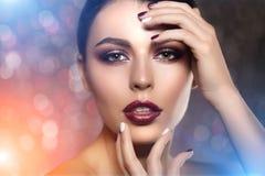 Beautiful model woman in beauty salon makeup Young modern girl i Royalty Free Stock Photo