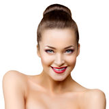 Beautiful model woman in beauty salon makeup Young modern girl Royalty Free Stock Photo