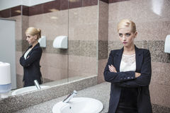 Beautiful model woman businesswoman in business attire in the mi Royalty Free Stock Photo