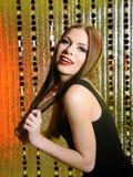 Beautiful model woman with fashion stage make-up Stock Photo