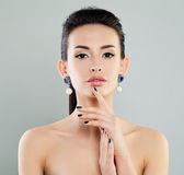 Beautiful Model Woman with Makeup, Manicure stock images