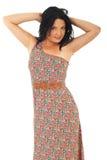 Beautiful model woman in summer dress Royalty Free Stock Image