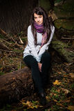 Beautiful model on the woods Stock Photo