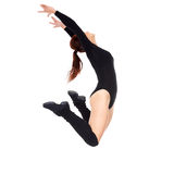 Beautiful moden female dancer jumping Royalty Free Stock Image