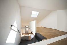 Beautiful modern apartment, loft duplex Royalty Free Stock Photos