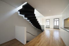 Beautiful modern apartment, loft duplex Stock Photography
