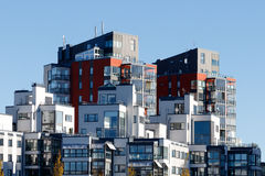 Beautiful modern apartments in Sweden Royalty Free Stock Photo