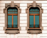 Beautiful modern architectural style windows Stock Photos