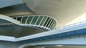 Beautiful modern architecture of the building in the complex City of Arts and Sciences in Valencia, Spain